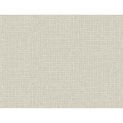 York Wallcoverings Hyde Park Silvered White, Platinum and Taupe Wallpaper: Sample Swatch Only