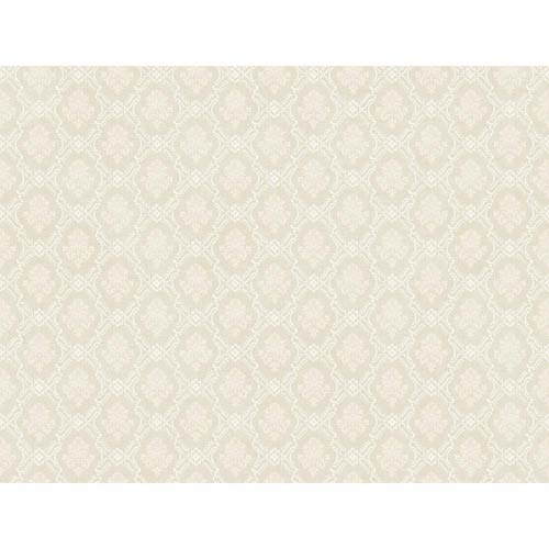 York Wallcoverings Hyde Park Oyster Gray, Cream and White Wallpaper: Sample Swatch Only
