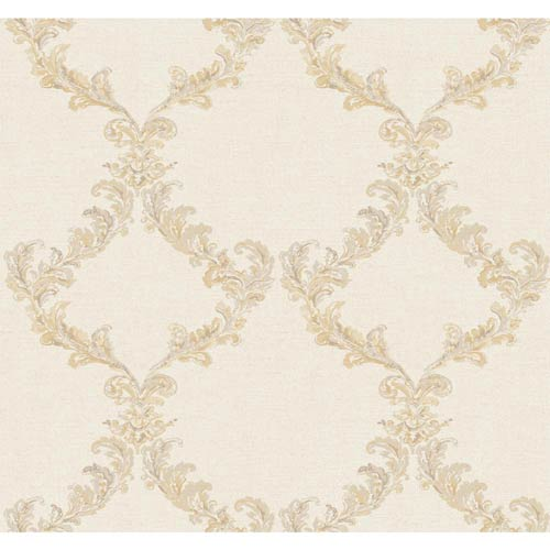 York Wallcoverings Hyde Park Multi-Colored Wallpaper: Sample Swatch Only