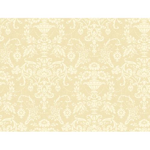 Regents Glen Light Cream and White Damask Wallpaper: Sample Swatch Only