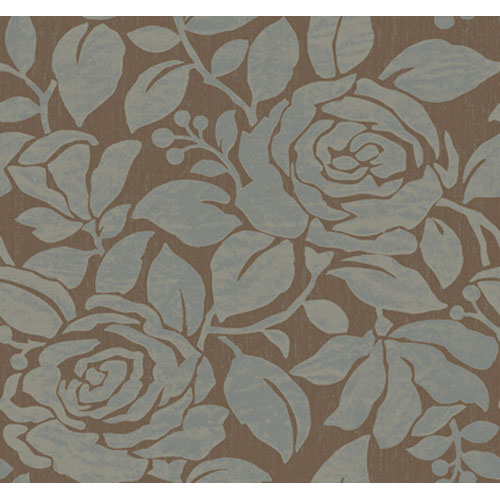 Wind River Large Scale Contemporary Gardenias Wallpaper : Sample Swatch Only