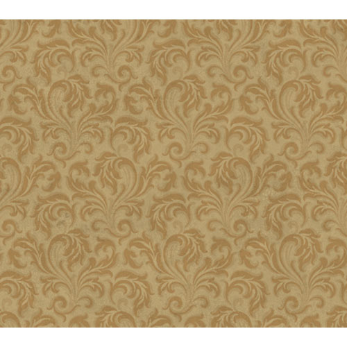 York Wallcoverings Wind River Scrolling tonal Acanthus Leaves Wallpaper :  Sample Swatch Only
