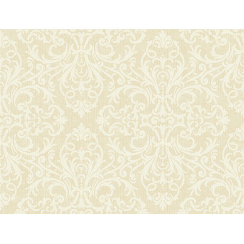 Wind River Lacey Filigreed Damask Wallpaper: Sample Swatch Only