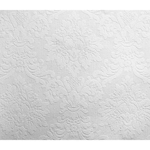 York Wallcoverings Inspired by Color White Classic Damask Paintable Wallpaper