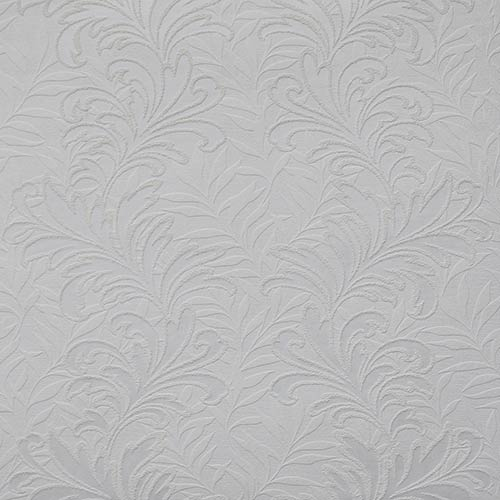 Botanical Leaf Paintable White Wallpaper- Sample Swatch Only