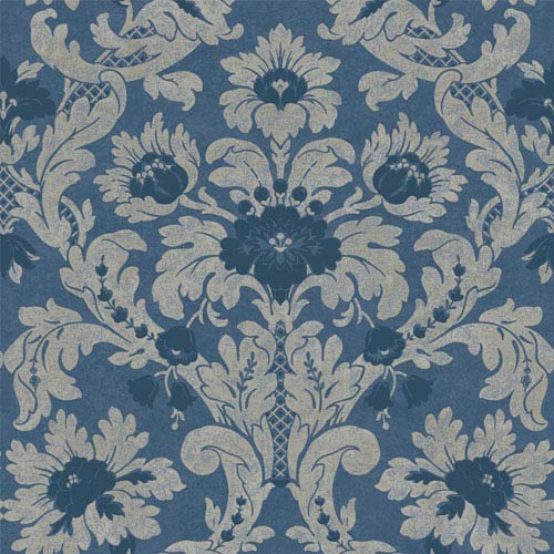 York Wallcoverings Legacy Victoria Blue Wallpaper-SAMPLE SWATCH ONLY