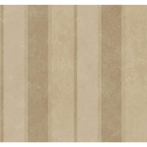 York Wallcoverings Legacy Scala Stripe Metallic Wallpaper