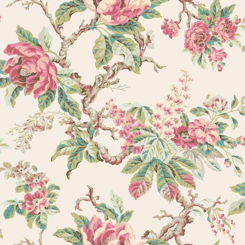 Legacy Vintage Garden Pink Wallpaper