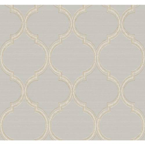 York Wallcoverings Legacy Silk Trellis Black Wallpaper-SAMPLE SWATCH ONLY