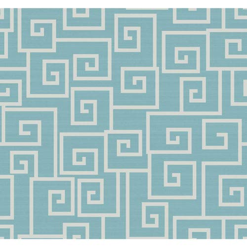 Legacy Contempo Scroll Blue Wallpaper-SAMPLE SWATCH ONLY