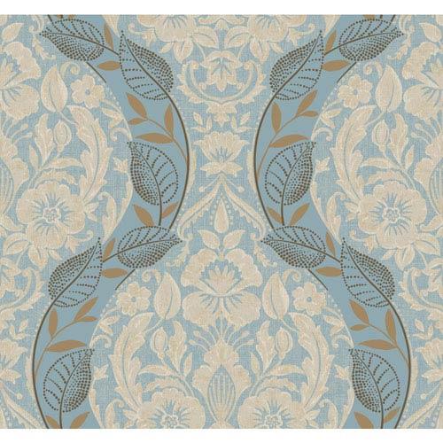 York Wallcoverings Legacy Dreamest Blue Wallpaper