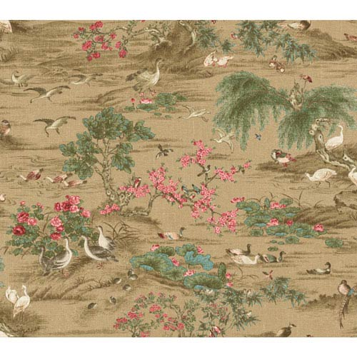 York Wallcoverings Legacy Fragrant Garden Scenic Brown Wallpaper-SAMPLE SWATCH ONLY