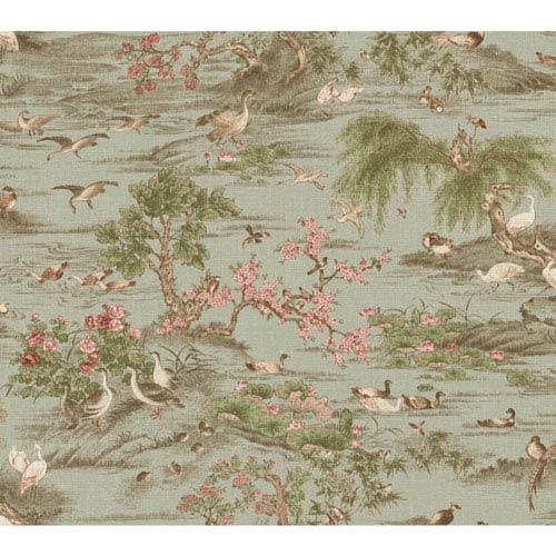 York Wallcoverings Legacy Fragrant Garden Scenic Green Wallpaper