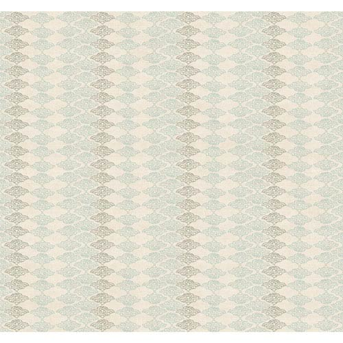 York Wallcoverings Legacy Dela Waves White and Off White Wallpaper