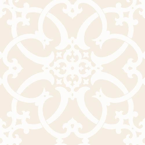 Legacy Antiquity White and Off White Wallpaper