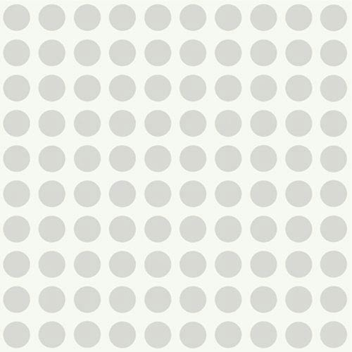 York Wallcoverings Girl Power Silver and White 2 Dots Wallpaper