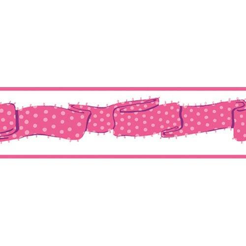 York Wallcoverings Girl Power Hot Pink 2 Ribbon Border: Sample Swatch Only