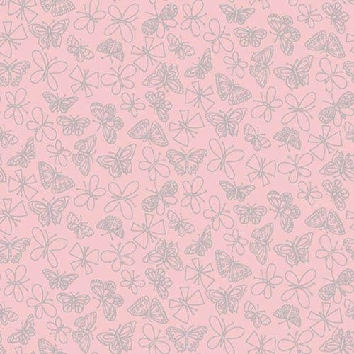York Wallcoverings Girl Power Light Pink 2 Glitter Butterfly Wallpaper