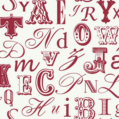 York Wallcoverings Risky Business II Word Play Wallpaper: Sample Swatch Only