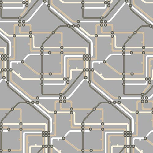 York Wallcoverings Risky Business II Take The A Train Wallpaper: Sample Swatch Only