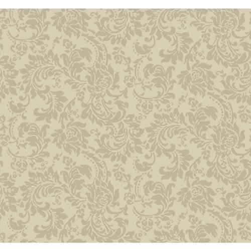 Sculptured Surfaces Beige and Grey Madeline Wallpaper: Sample Swatch Only