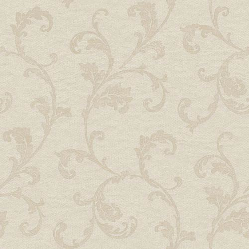 York Wallcoverings Vintage Patina Dove Grey, Storm Cloud Grey and Toasted Almond Wallpaper: Sample Swatch Only