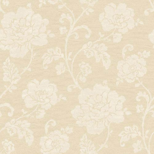 York Wallcoverings Vintage Patina Beige, Bisque and Cream Floral Trail Wallpaper: Sample Swatch Only