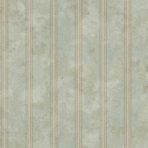 York Wallcoverings Vintage Patina Aqua, Grey and Eggshell Wallpaper: Sample Swatch Only