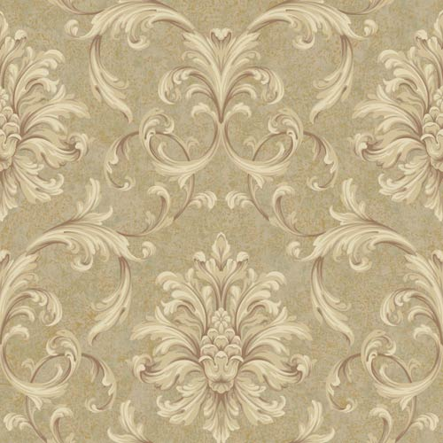 York Wallcoverings Vintage Patina Beige, Tan, Brown, Grey and Russet Wallpaper: Sample Swatch Only