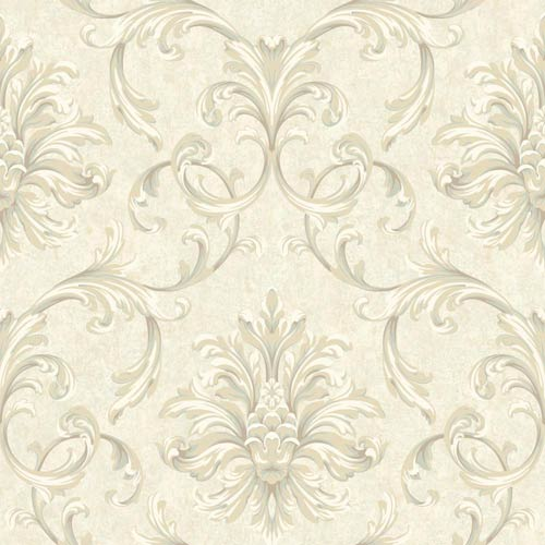 York Wallcoverings Vintage Patina Parchment Tan, Cream, Taupe and Pale Aqua Wallpaper: Sample Swatch Only
