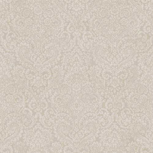 York Wallcoverings Fresco Mauve and Lavender Textural Damask Wallpaper: Sample Swatch Only