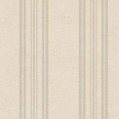 York Wallcoverings Fresco Buff, Purple and Lavender Edisto Stripe Wallpaper: Sample Swatch Only