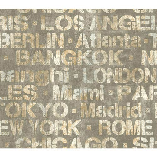 York Wallcoverings Urban Chic Meet Me In . . . Wallpaper: Sample Swatch Only