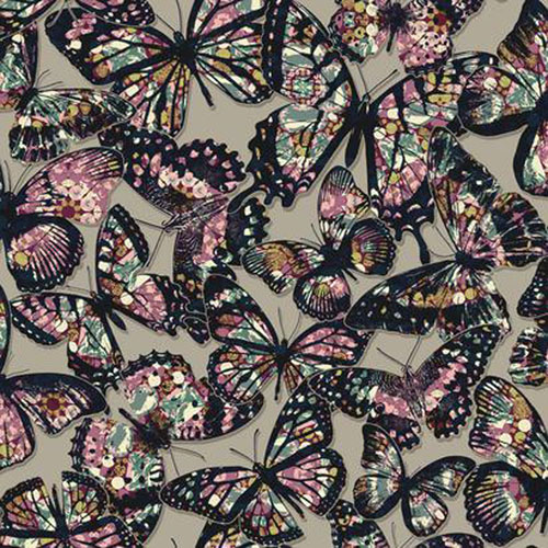 Urban Chic Jeweled Monarch Wallpaper