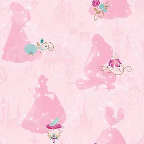 Disney Princess Pink Peel and Stick Wallpaper