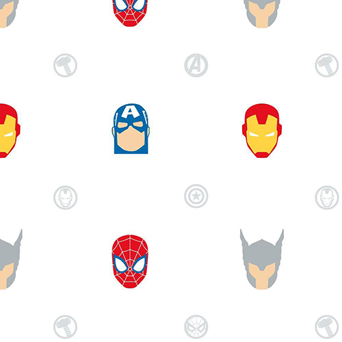 York Wallcoverings Avengers Character Spot Peel and Stick Wallpaper - SAMPLE SWATCH ONLY