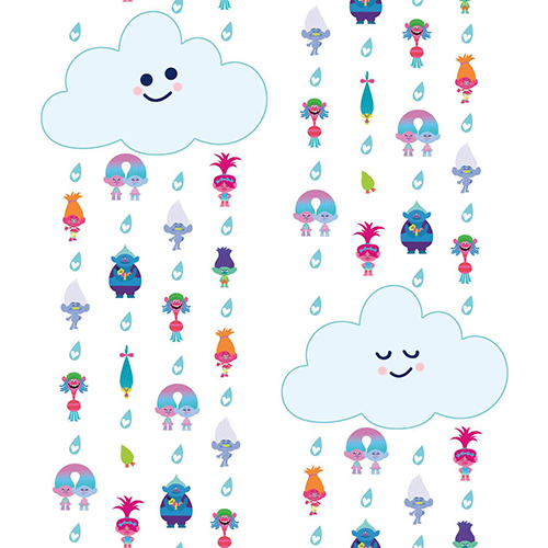 York Wallcoverings Trolls Clouds Peel and Stick Wallpaper