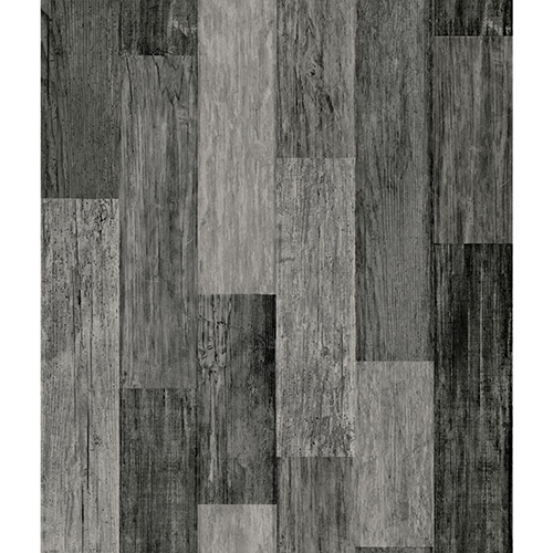 Weathered Wood Plank Black Peel and Stick Wallpaper - SAMPLE SWATCH ONLY