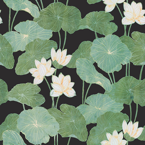 York Wallcoverings Lily Pads Black Peel and Stick Wallpaper
