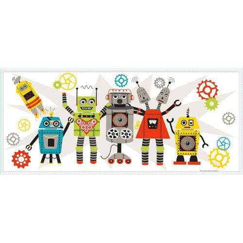 Waverly Kids Multicolor Waverly Robots Wall Graphic
