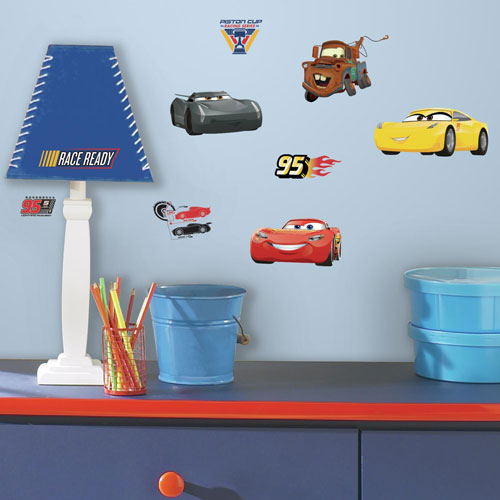 Disney Pixar Cars 3 Peel and Stick Wall Decals