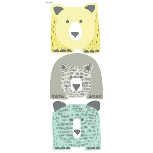 Dwell Studio Baby and Kids Bears Giant Yellow and Blue Decal