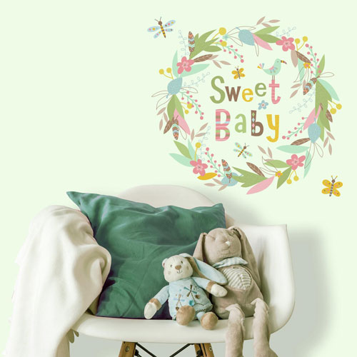 Roommates Decor Sweet Baby Giant Peel and Stick Wall Decals