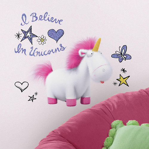 Roommates Decor Despicable Me 3 I Believe In Unicorns Giant Peel and Stick Wall Decals