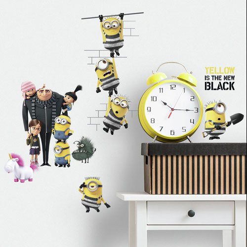 Roommates Decor Despicable Me 3 Peel and Stick Wall Decals