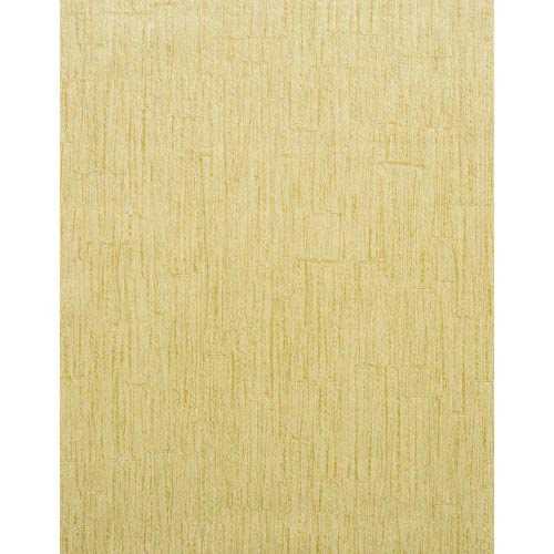 York Wallcoverings Modern Rustic Pistachio Green and Cream Wallpaper: Sample Swatch Only