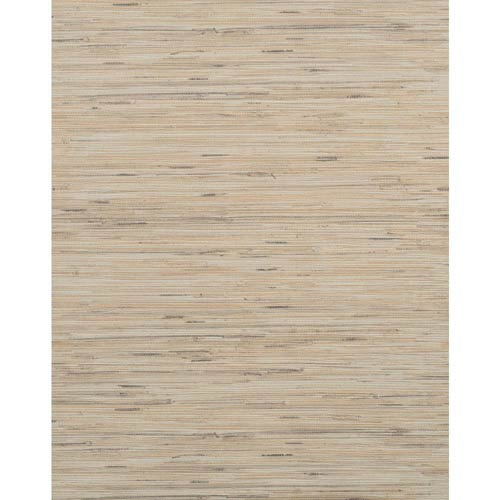 York Wallcoverings Modern Rustic Bluish Gray, Cream and Tan Wallpaper