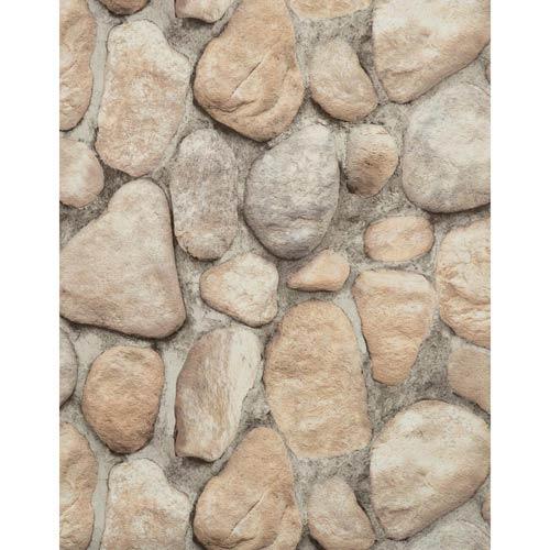 York Wallcoverings Modern Rustic Slate Gray, Desert Brown, Cream, Black and Off White Wallpaper