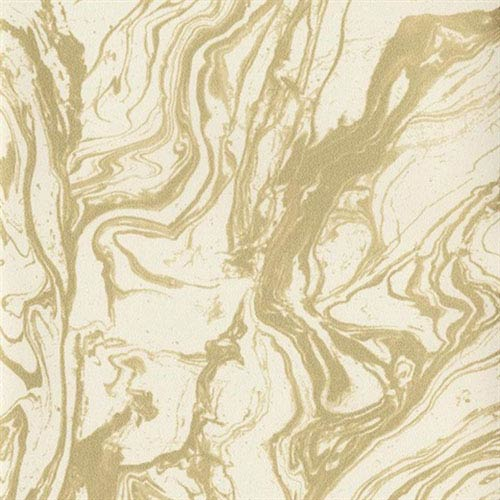 Industrial Interiors Modern Marble Cream and Metallic Gold Wallpaper