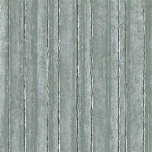 Industrial Interiors Vintage Tin Metallic Silvered Aqua and Teal Wallpaper- Sample Swatch ONLY